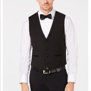 🆕 CALVIN KLEIN men's wool vest suit separate